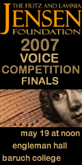 Jensen Voice Competition Finals, 19 May 2007