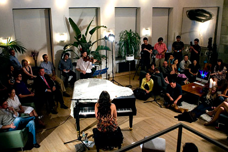 Culture Catch music salon with Vanessa Carlton at the Bennett Media Studio in New York, 17 June 2008