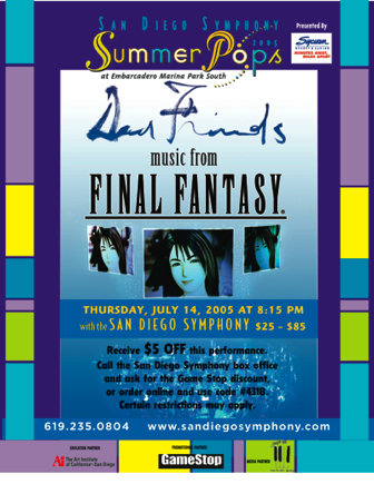 The San Diego Symphony plays Music from Final Fantasy, 14 July 2005